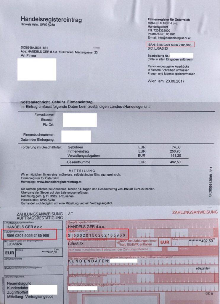 Fake-Rechnung